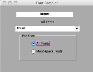 Font Sampler Image